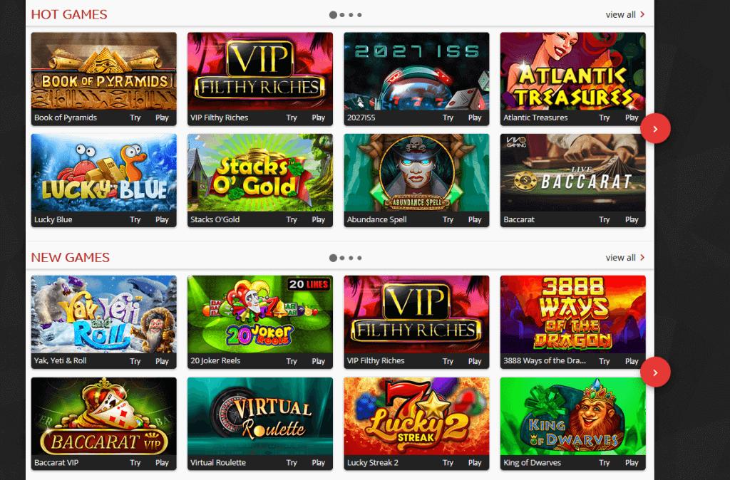 Oshi Casino Games