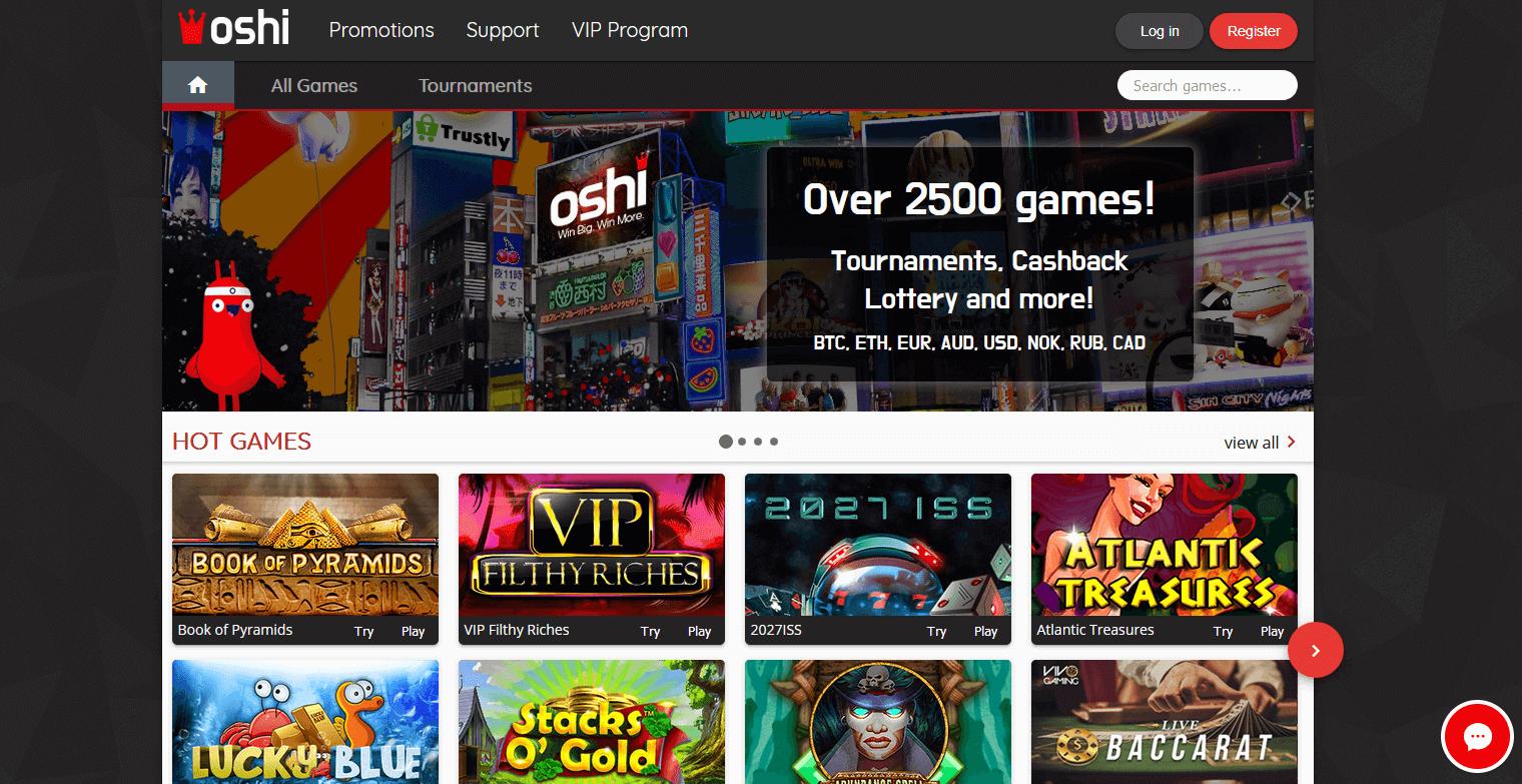 oshi casino website